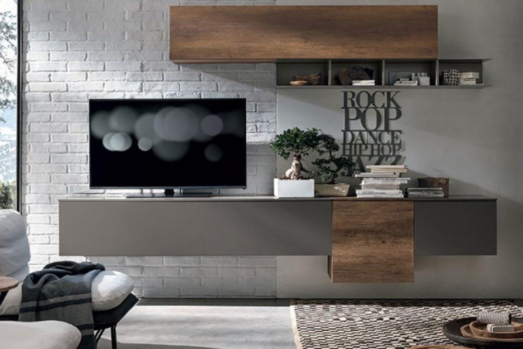 Wohnwand in verschiedenen Kombinationen in Holz oder verschiedene Lackfarben erhältlich